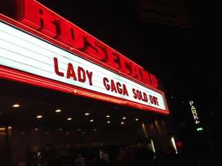 Marquee for Lady Gaga @Roseland