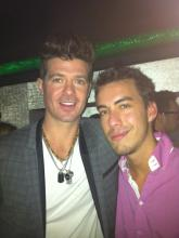 Robin Thicke and I